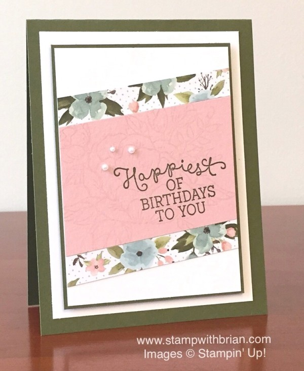 Birthday Blossoms, Birthday Bouquet Designer Series Paper, Stampin' Up!, Brian King