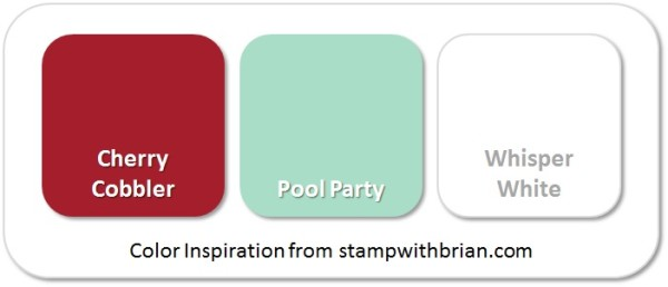 Stampin' Up! Color Inspiration: Cherry Cobbler, Pool Party, Whisper White