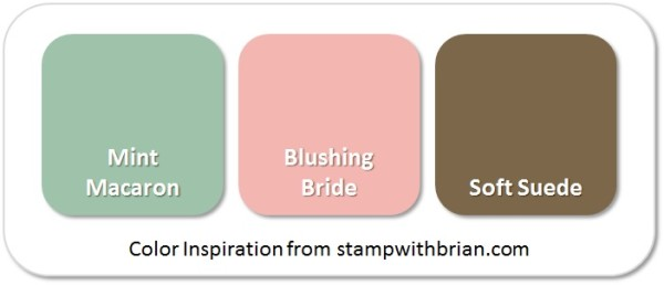Stampin' Up! Color Inspiration: Mint Macaron, Blushing Bride, Soft Suede