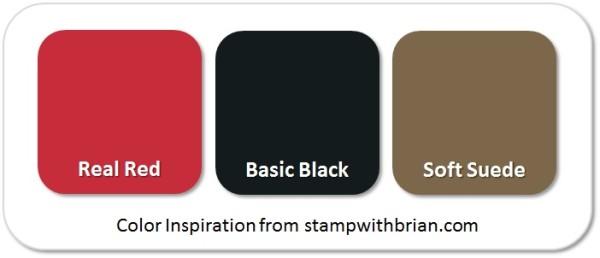 Stampin' Up! Color Inspiration: Real Red, Basic Black, Soft Suede