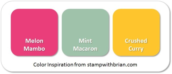 Stampin' Up! Color Inspiration: Melon Mambo, Mint Macaron, Crushed Curry