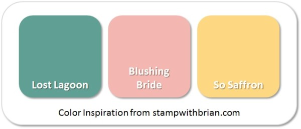 Stampin' Up! Color Inspiration: Lost Lagoon, Blushing Bride, So Saffron