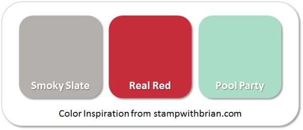 Stampin' Up! Color Inspiration: Smoky Slate, Real Red, Pool Party