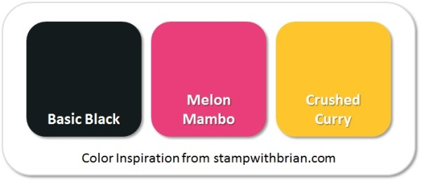 Stampin' Up! Color Inspiration: Basic Black, Melon Mambo, Crushed Curry