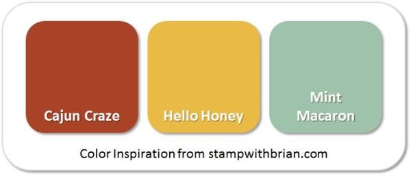 Stampin' Up! Color Inspiration: Cajun Craze, Hello Honey, Mint Macaron