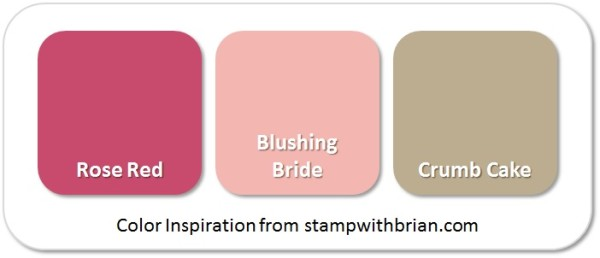 Stampin' Up! Color Inspiration: Rose Red, Blushing Bride, Crumb Cake
