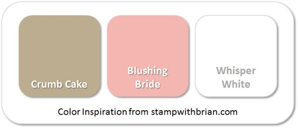 Stampin' Up! Color Inspiration: Crumb Cake, Blushing Bride, Whisper White
