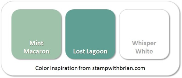 Stampin' Up! Color Inspiration: Mint Macaron, Lost Lagoon, Whisper White
