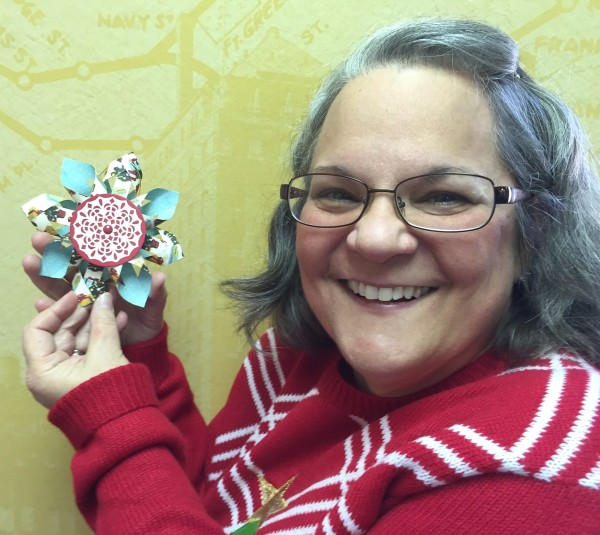 3-D Snowflake Ornament, Stampin' Up!, Sharon Walker