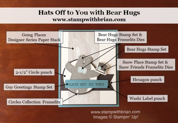 Bear Hugs, Guy Greetings, Snow Place, Stampin' Up!, Brian King, PP279