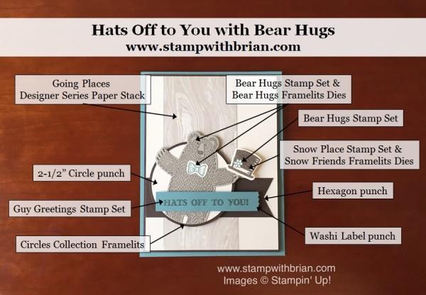 Bear Hugs, Guy Greetings, Snow Place, Stampin' Up!, Brian King, PP279