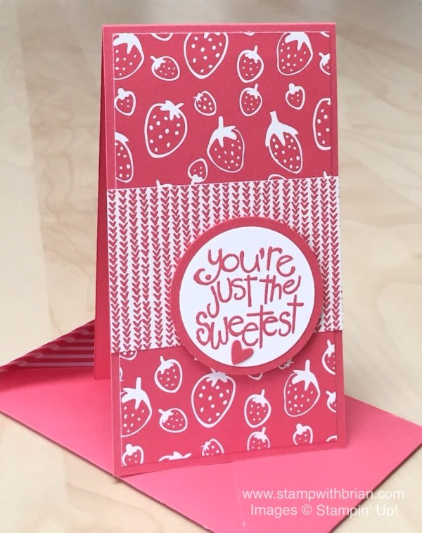 Apple of My Eye, Sweet Li'l Things Designer Series Paper, Stampin' Up!, Brian King