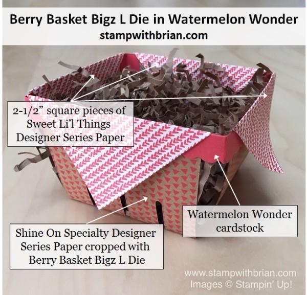 Berry Basket Bigz L Die, Shine On Specialty Designer Series Paper, Sweet Li'l Things Designer Series Paper, Stampin' Up!, Brian King