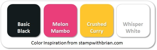 Stampin' Up! Color Inspiration: Basic Black, Melon Mambo, Crushed Curry, Whisper White