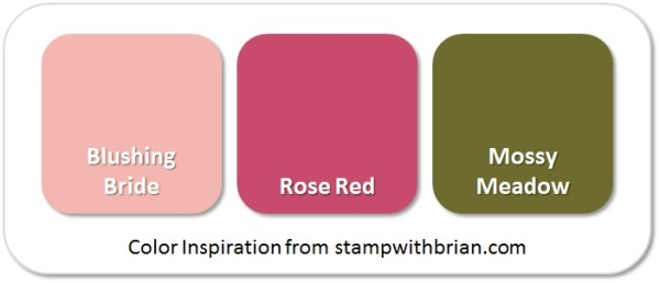 Stampin' Up! Color Inspiration: Blushing Bride, Rose Red, Mossy Meadow