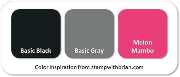 Stampin' Up! Color Inspiration: Basic Black, Basic Gray, Melon Mambo