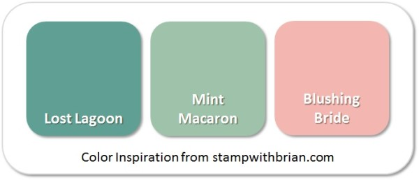 Stampin' Up! Color Inspiration: Lost Lagoon, Mint Macaron, Blushing Bride