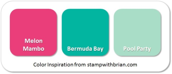 Stampin' Up! Color Inspiration: Melon Mambo, Bermuda Bay, Pool Party