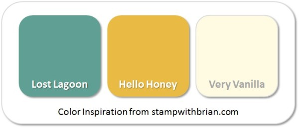 Stampin' Up! Color Inspiration: Lost Lagoon, Hello Honey, Very Vanilla