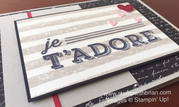 En Toute Amiteie, Something to Say, Stampin' Up!, Brian King, FMS219, Valentine's Day Card