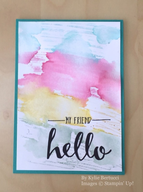Hello, Stampin' Up!, by Kylie Bertucci