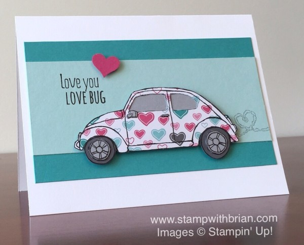 Beautiful Ride, Have a Cuppa Designer Series Paper Stack, Stampin' Up!, Brian King, Valentine's Day Card