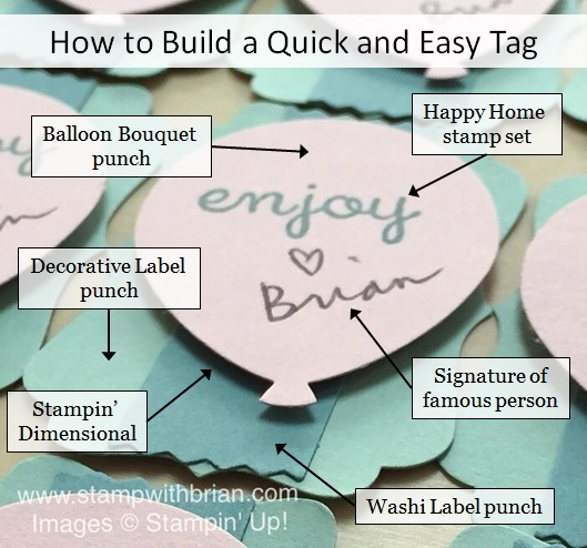 Happy Home, Balloon Bouquet punch, Decorative Label punch, Washi Label punch, Stampin' Up!, Brian King