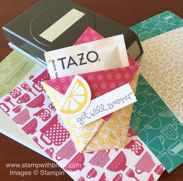 A Nice Cuppa, Greatest Greetings, Have a Cuppa Designer Series Paper Stack, Stampin' Up!, Brian King, Diaper fold pouch