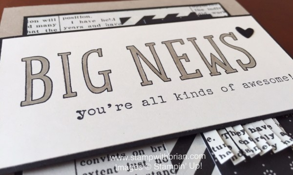 Big News, Words of Truth, Stampin' Up!, Brian King, FabFri81