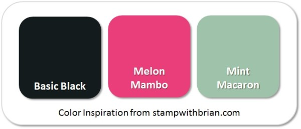 Stampin' Up! Color Inspiration: Basic Black, Melon Mambo, Mint Macaron