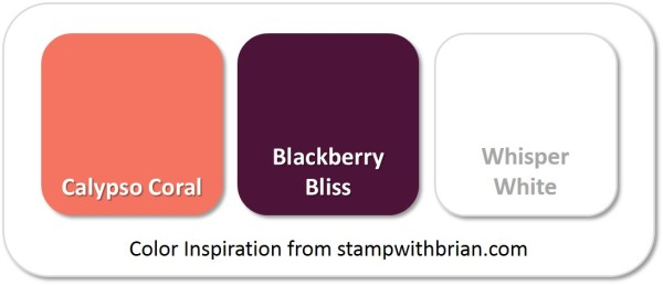 Stampin' Up! Color Inspiration: Calypso Coral, Blackberry Bliss, Stampin' Up!