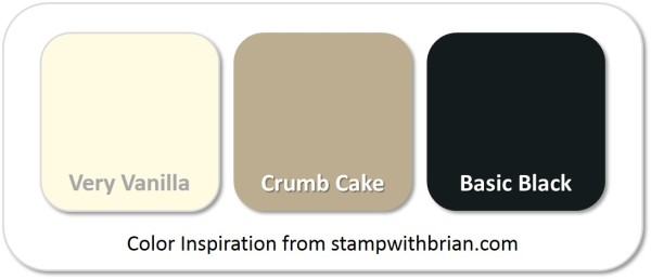 Stampin' Up! Color Inspiration: Very Vanilla, Crumb Cake, Basic Black