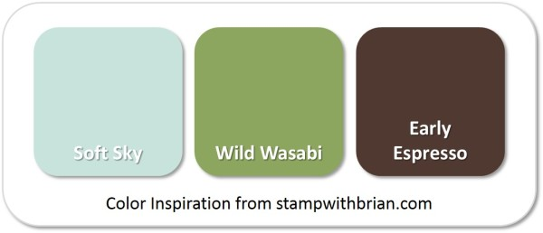Stampin' Up! Color Inspiration: Soft Sky, Wild Wasabi, Early Espresso