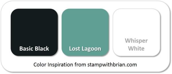 Stampin' Up! Color Inspiration: Basic Black, Lost Lagoon, Whisper White