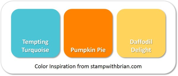 Stampin' Up! Color Inspiration: Tempting Turquoise, Pumpkin Pie, Daffodil Delight