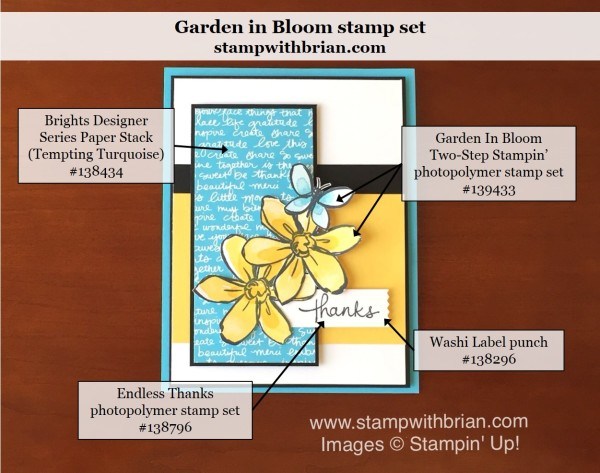 Garden in Bloom, Endless Thanks, Stampin' Up!, Brian King, PP284, CYCI#109