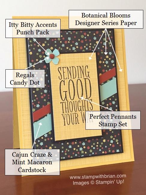 Perfect Pennants, Botanical Blooms Designer Series Paper, Stampin' Up!, Brian King, PPA286