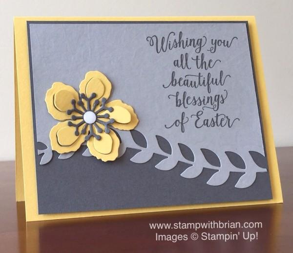 Suite Sayings, Botanical Builder Framelits, Stampin' Up!, Brian King, GDP025, Easter Card