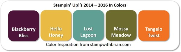 2014-2016 In Colors, Stampin' Up!