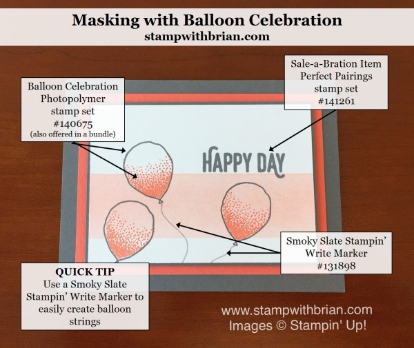 Balloon Celebration, Perfect Pairing, Stampin' Up!, Brian King, CTS164