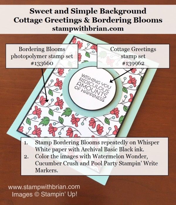 Bordering Blooms, Cottage Greetings, Stampin' Up!, Brian King, PPA291