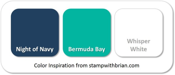 Stampin' Up! Color Inspiration: Night of Navy, Bermuda Bay, Whisper White