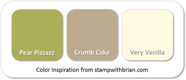 Stampin' Up! Color Inspiration: Pear Pizzazz, Crumb Cake, Very Vanilla