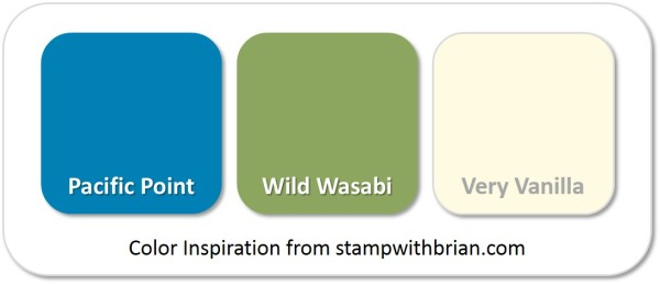 Stampin' Up! Color Inspiration: Pacific Point, Wild Wasabi, Very Vanilla