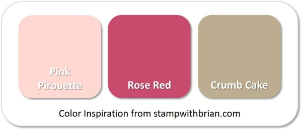 Stampin' Up! Color Inspiration: Pink Pirouette, Rose Red, Crumb Cake