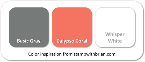 Stampin' Up! Color Inspiration: Basic Gray, Calypso Coral, Whisper White