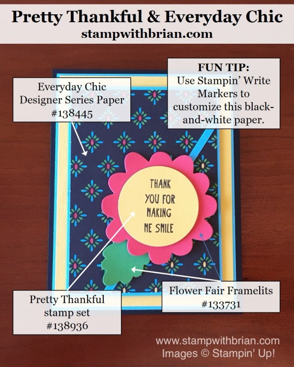 Pretty Thanksful, Stampin' Up, Brian King, GDP028