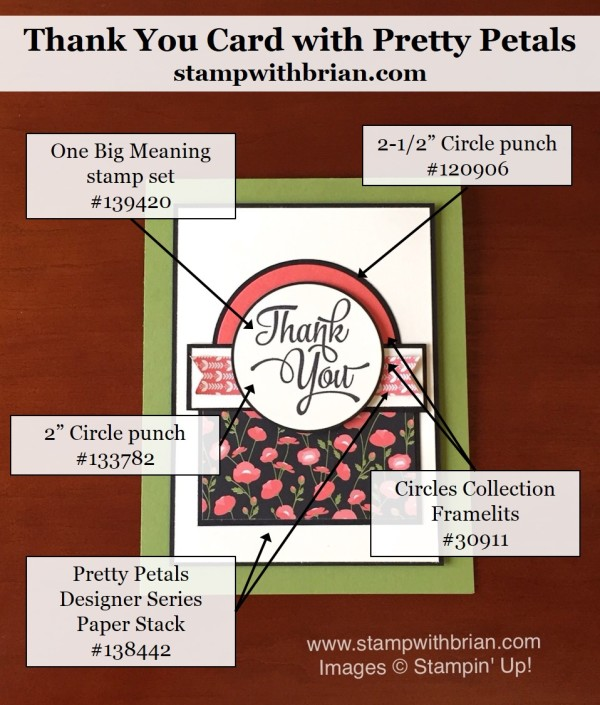 One Big Meaning, Petite Petals Designer Series Paper, Stampin' Up!, Brian King, PPA292, GDP027