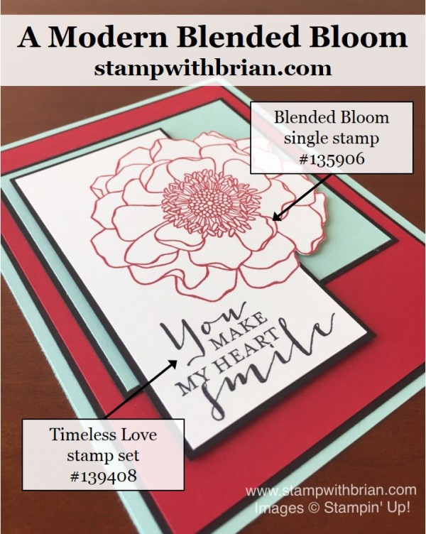 Blended Bloom, Timeless Love, Stampin' Up!, Brian King