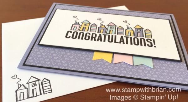 Bravo, Welcome Words, Stampin' Up!, Brian King, Housewarming Card